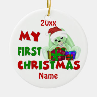 Babys First Christmas Bunny Personalized Christmas Ornament