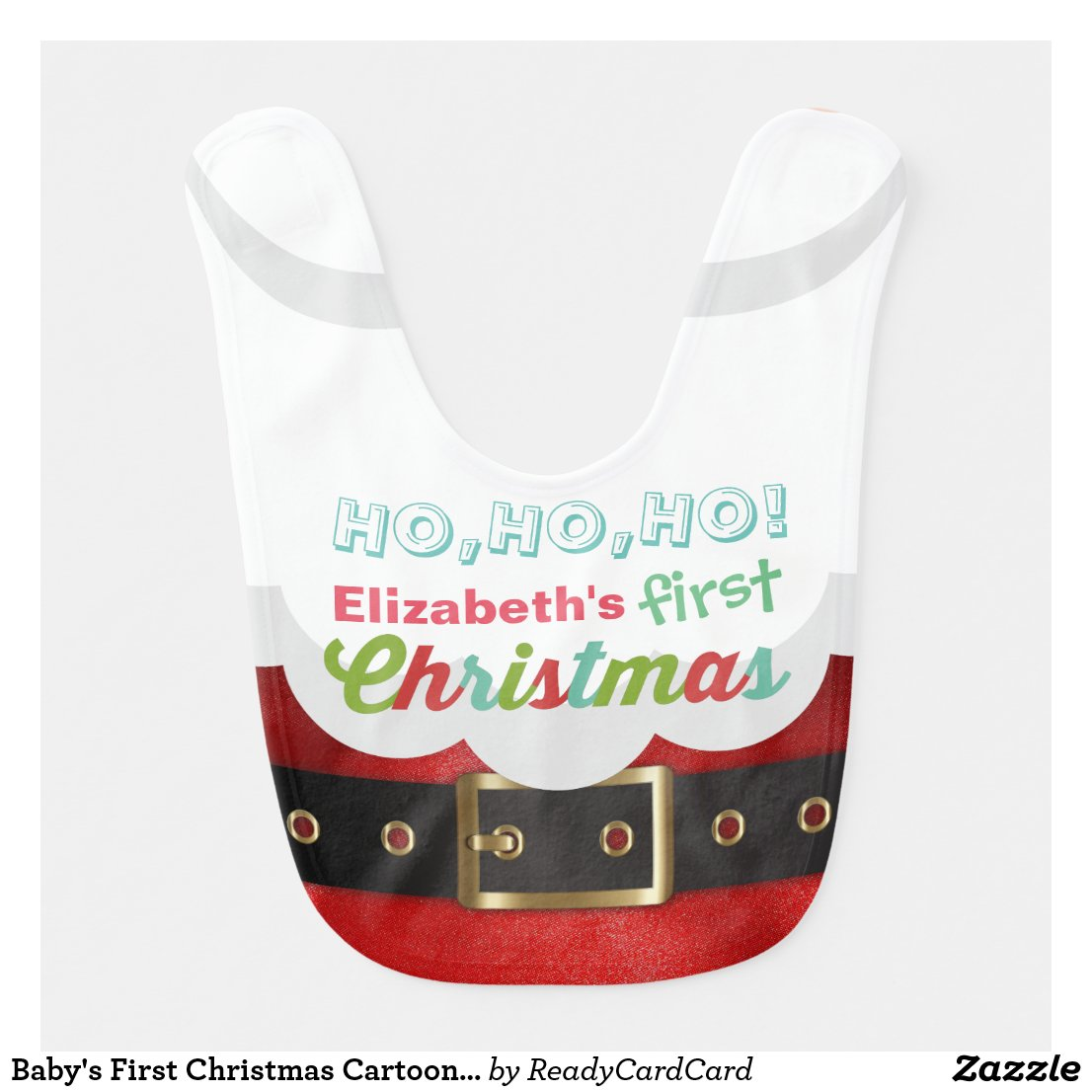 Baby's First Christmas Santa Bib