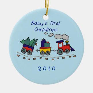 Baby's First Christmas Choo-Choo Train Christmas Ornament