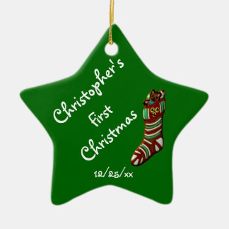 """""""Baby's First Christmas"""" - Christmas Stocking Christmas Ornament"""