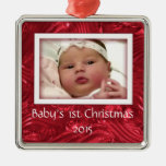 Babys First Christmas Custom Photo Frame Ornament