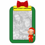 Baby's First Christmas Custom Photo Ornament Photo Cut Outs