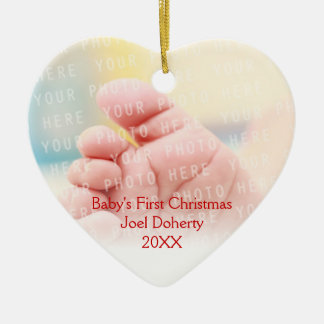 Baby's First Christmas Cute Owls Pattern Christmas Ornament