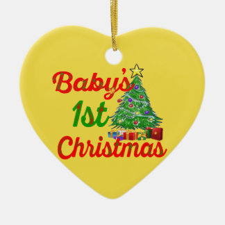 babys first christmas decoration heart ornament