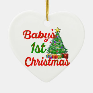 baby's first christmas decoration heart ornament