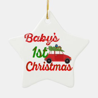 baby's first christmas decoration star ornament