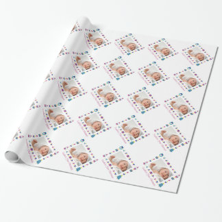 Baby's First Christmas Family Photo Customizable Wrapping Paper