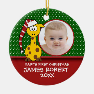 Baby's First Christmas Giraffe Ornament