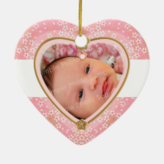 Baby's First Christmas Heart Frame Christmas Ornament