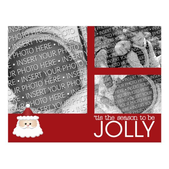 Baby's First Christmas Holiday Photo Postcard