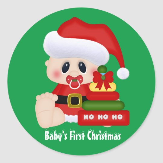 Baby's First Christmas Holiday sticker