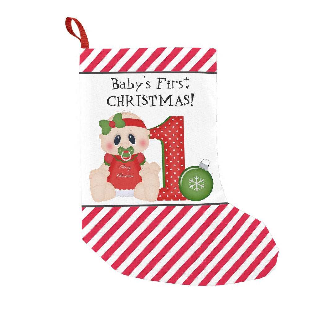 Baby's First Christmas Holiday stocking