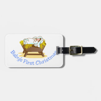Babys First Christmas Tag For Luggage