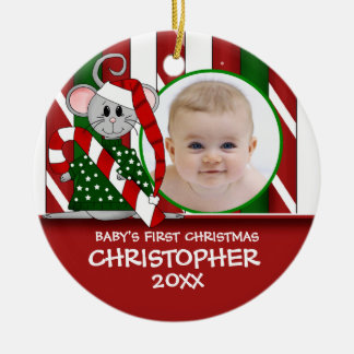 Baby's First Christmas Mouse Ornament