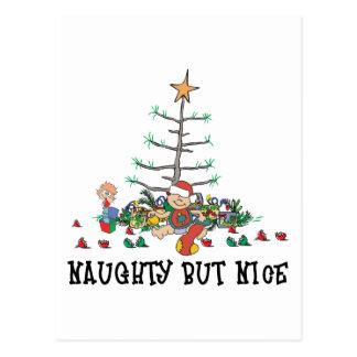 Baby's First Christmas Naughty But Nice Postcard
