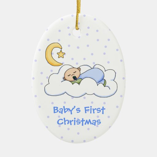 Baby 39 s first christmas ornament zazzle for Babys first christmas decoration