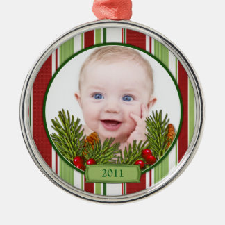 Baby's First Christmas Ornament - Round Shape