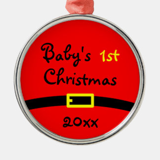 Baby's First Christmas Ornament With Year