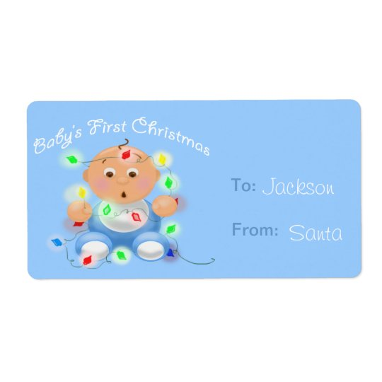 """""""Baby's First Christmas"""" Personalised Gift Tags"""