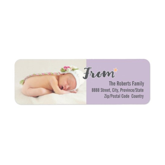 Baby's First Christmas Personalised Photo, purple