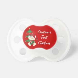 Baby's First Christmas/ Personalize Baby Name Baby Pacifiers
