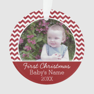 Baby's First Christmas Personalized Photo Ornament