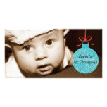 BABY'S FIRST CHRISTMAS PHOTO CARD TEMPLATE
