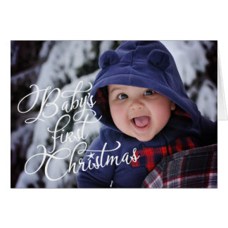 """Baby's First Christmas"" - Photo Christmas Card"