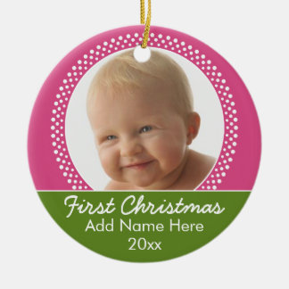 Baby's First Christmas Photo Frame Christmas Ornament