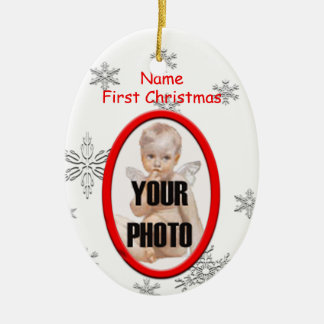 Babys First Christmas Photo Frame Ornament