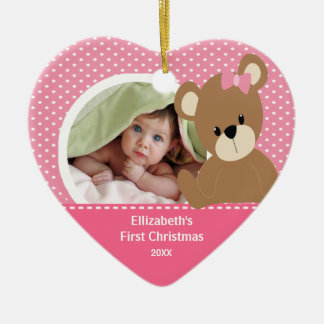 Babys First Christmas Photo Ornament Bear