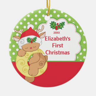 Babys First Christmas Photo Ornament Deer