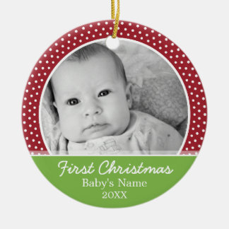 Baby's First Christmas Photo - Single Sided Christmas Ornament