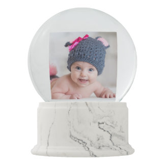 Baby's First Christmas Photo Snow Globe
