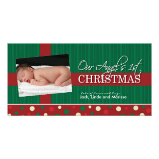 Baby's First Christmas Photocard Card
