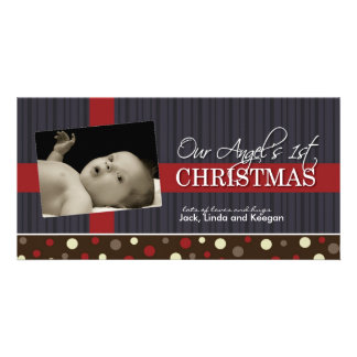 Baby's First Christmas Photocard Customised Photo Card