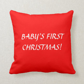BABY'S FIRST CHRISTMAS PILLOW