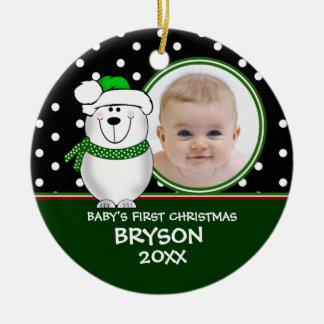 Baby's First Christmas Polar Bear Ornament