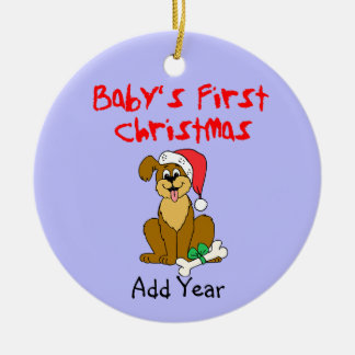 Baby's First Christmas Puppy Dog Christmas Ornament