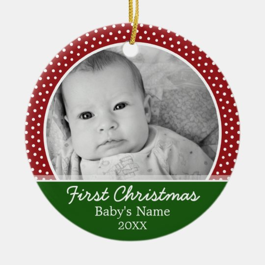 Babys First Christmas - Red Polka Dots Christmas