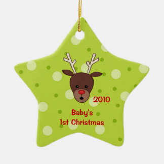 Baby's First Christmas Reindeer Ornament