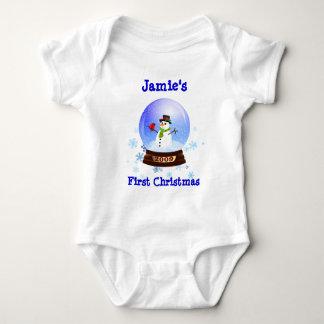 Baby's First Christmas Snowglobe T-shirt