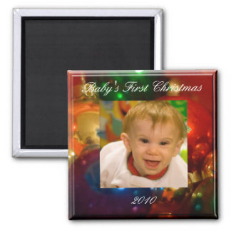 Baby's First Christmas Square Magnet