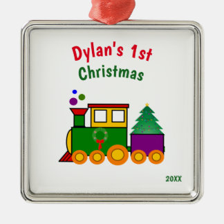 Baby's First Christmas Train Ornament