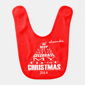 Baby's First Christmas- Baby Bibs