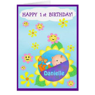Baby's First Custom Birthday Greeting Card
