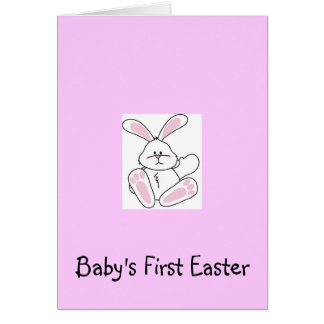 Baby first easter gifts t shirts art posters other gift baby39s first easter greeting card negle Images