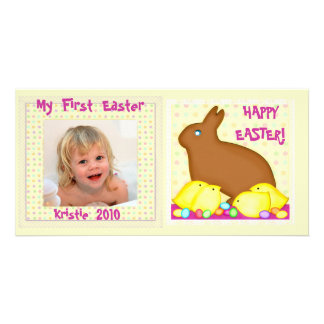 Baby's First Easter Personalized Photo Card