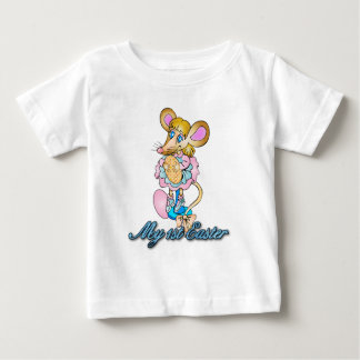 Baby's First Easter T Shirt With Cute Little Mouse
