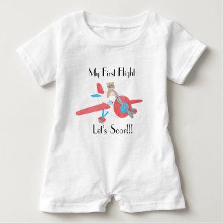 Baby's First Flight Romper Baby Bodysuit